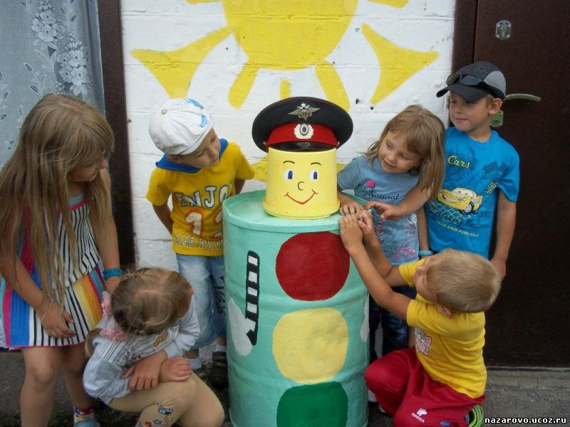 Пдд в детском саду на участке своими руками фото