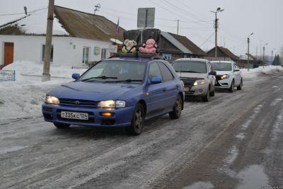 В Назаровском районе проехал необычный агитационный кортеж